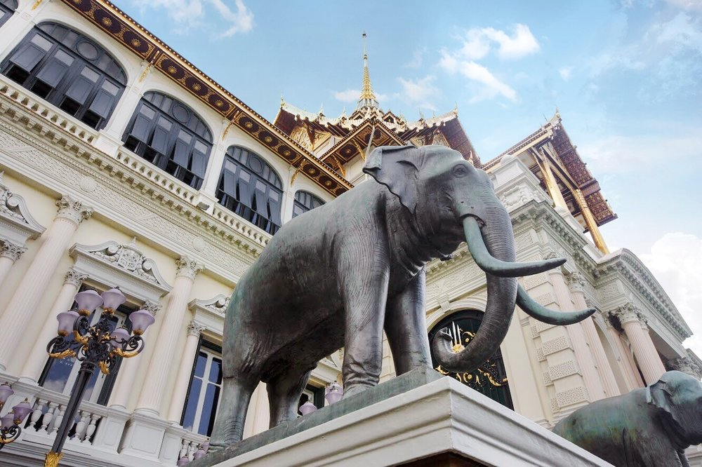 Elephants are an important part of Thai culture and architecture.