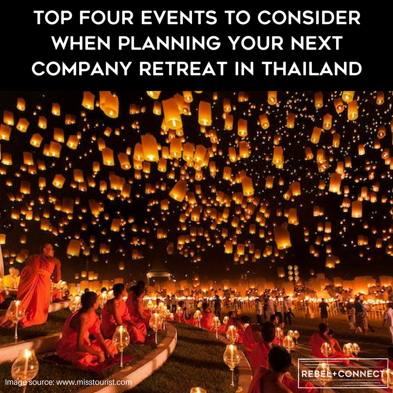 Events to consider for company retreat in Thailand.
