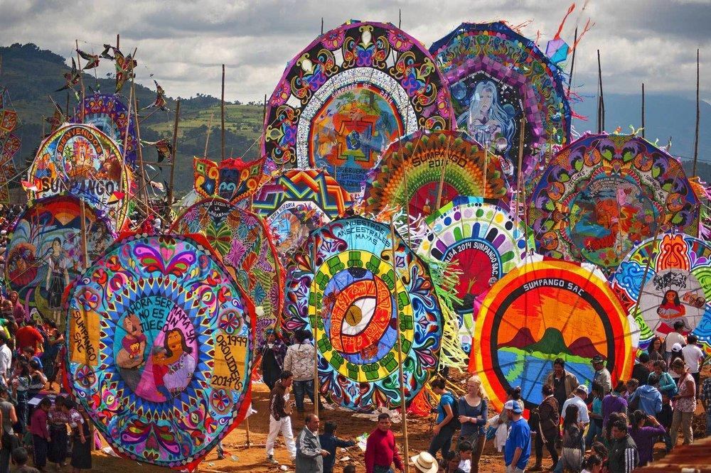 Kite Festival Barriletes Gigantes de Santiago Sacatepequez Guatemala