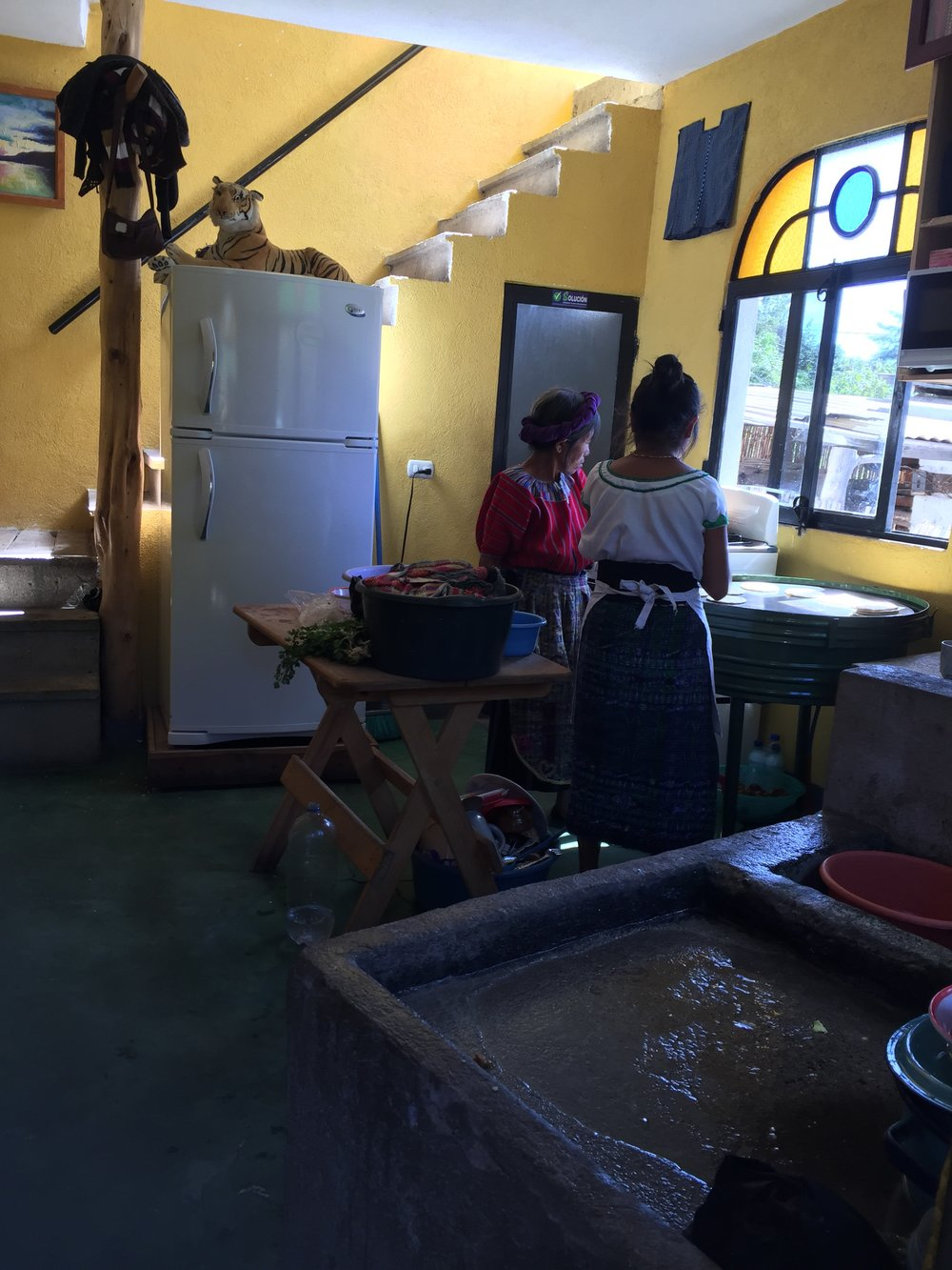 Inside Juanita's home kitchen where she makes fresh, homemade tortillas.