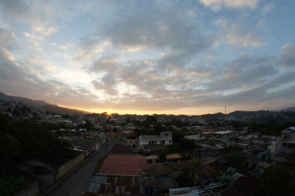 The sunrises are beautiful throughout the entire country of Guatemala.