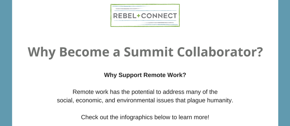 Global audience to share your company's product or service with, coming together for the Remote Work Summit.