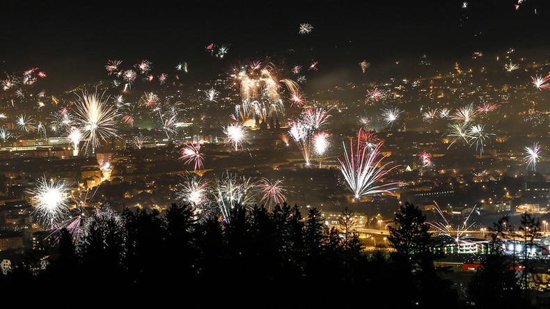 New Years Fireworks Innsbruck Austria