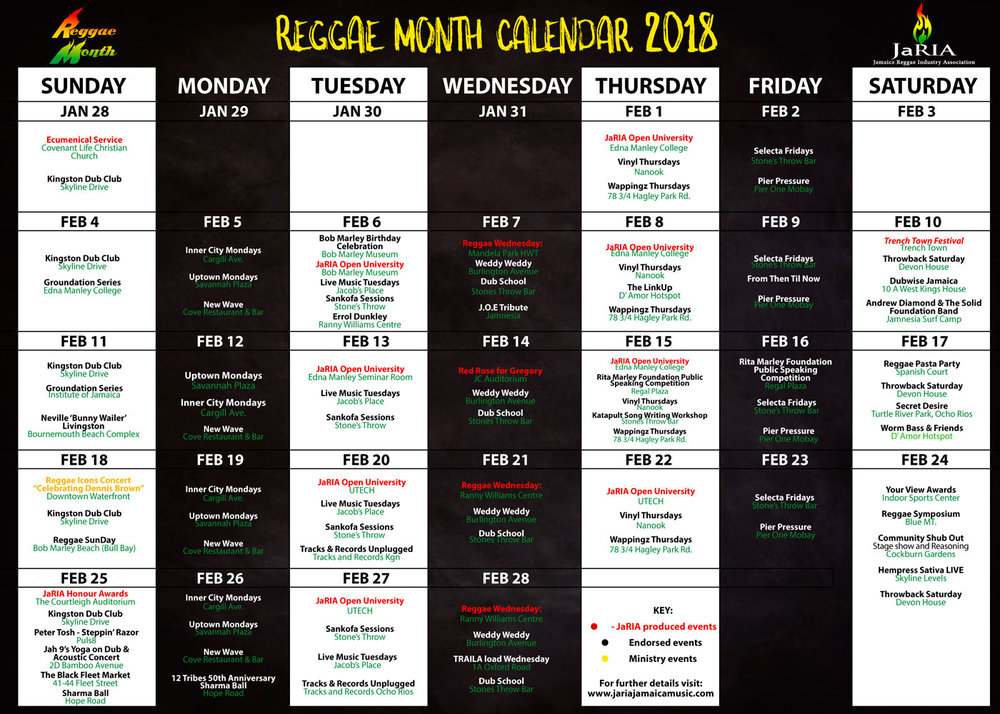 Reggae Month Jamaica Music