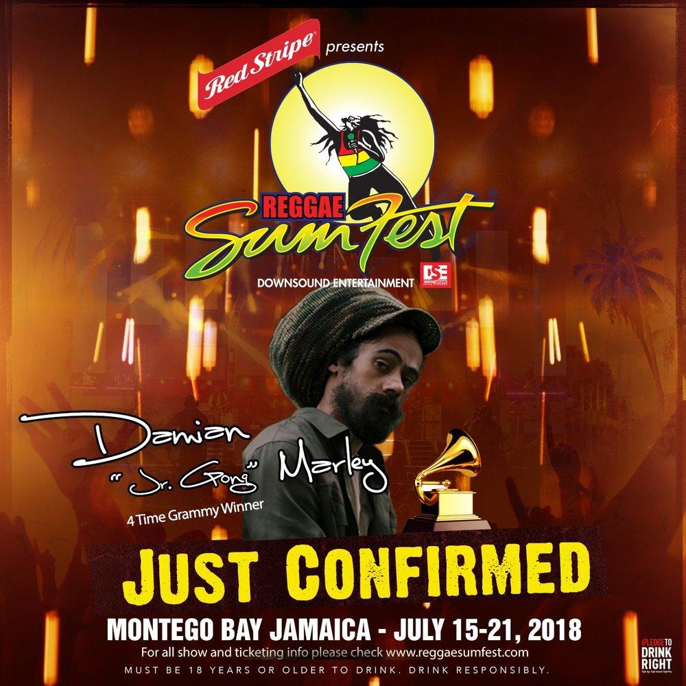Damian Marley montego bay reggae sumfest jamaica