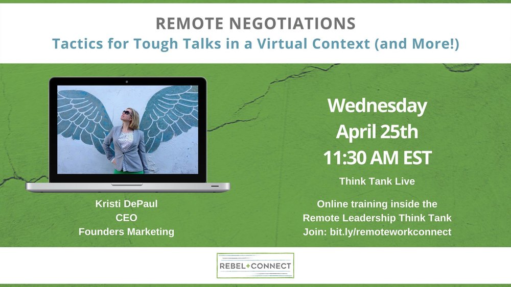 Remote negotiations - Tactics for Tough Talks in a Virtual Context