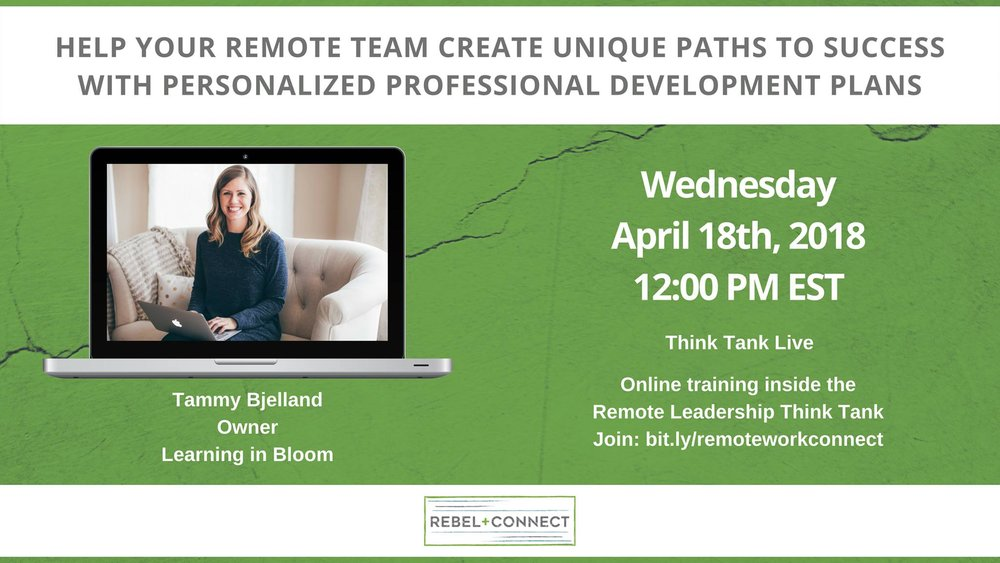 Remote teams and the importance of personalized professional development plans.