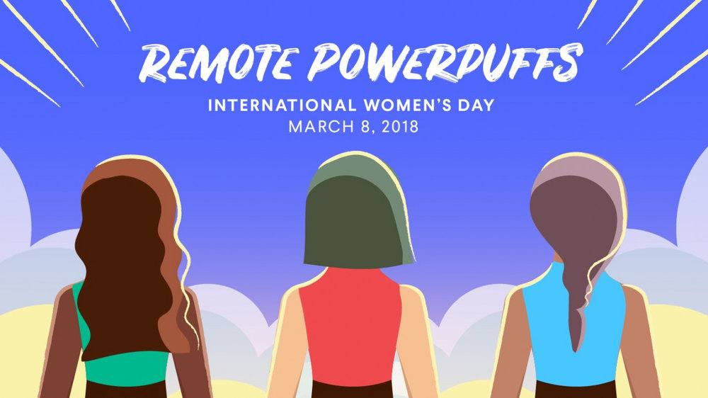 Female remote workers unite on International Women's Day 2018.