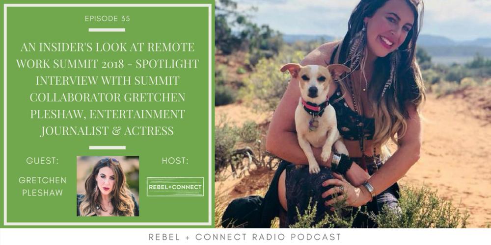 Gretchen Pleshaw Entertainment Journalist, Entertainment Journalist Actress Remote Work Summit Leadership Team Building Company Culture