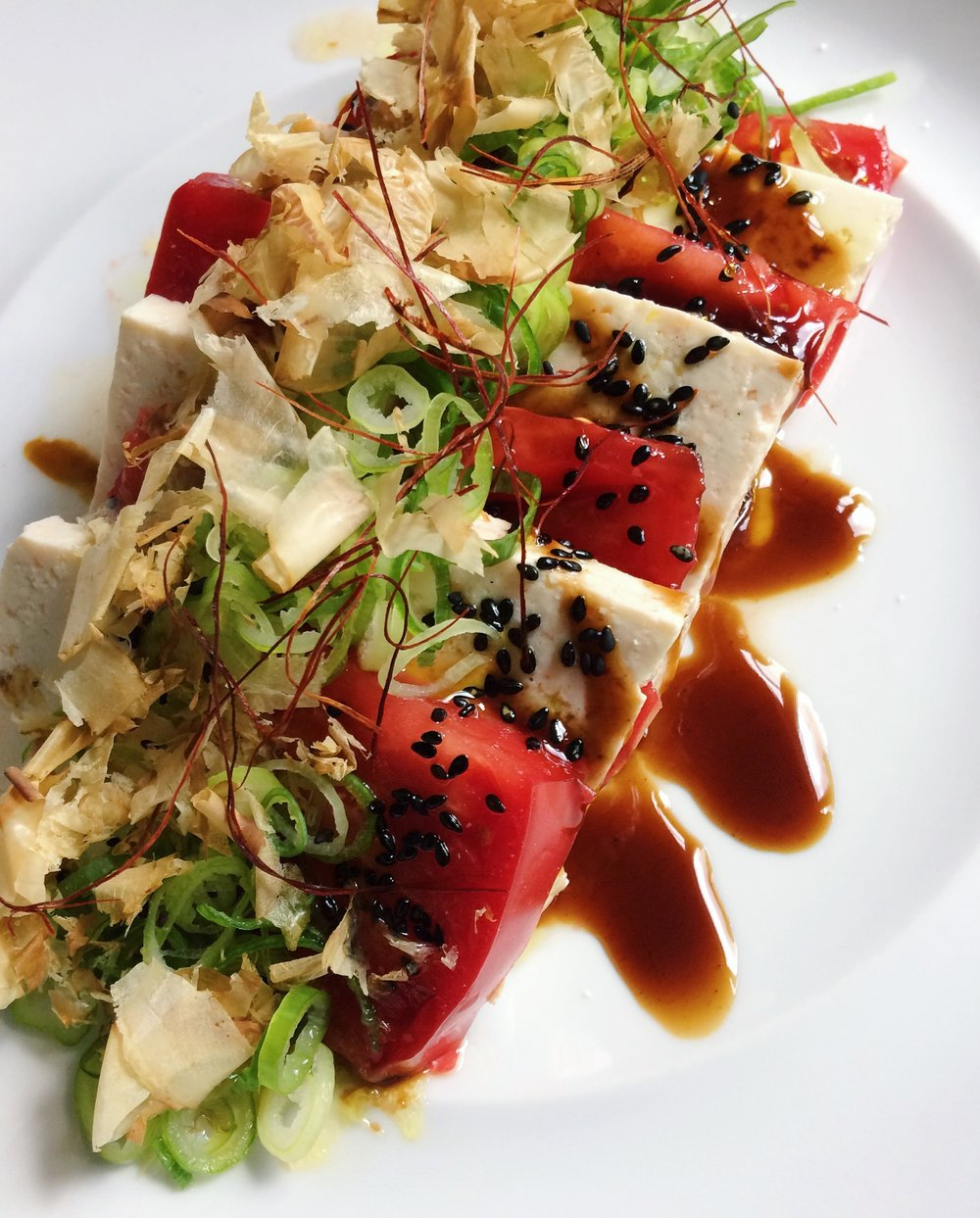 Tofu tomato 'caprese' by Jason Wang (photo by Jason Wang)