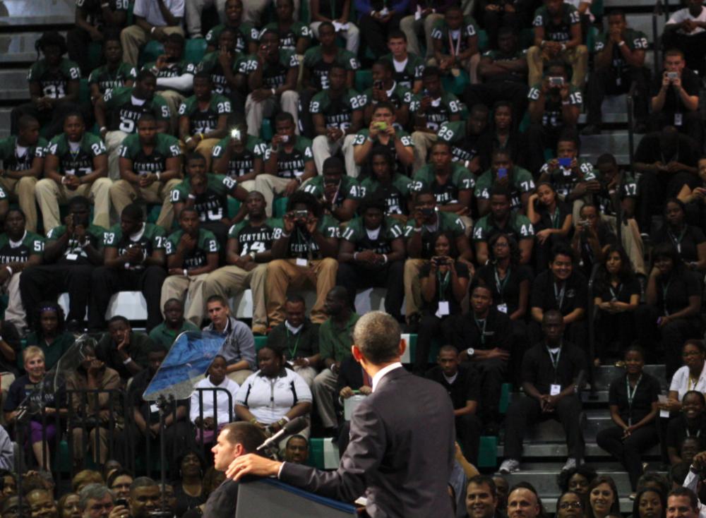 President Obama visits Miami Central -