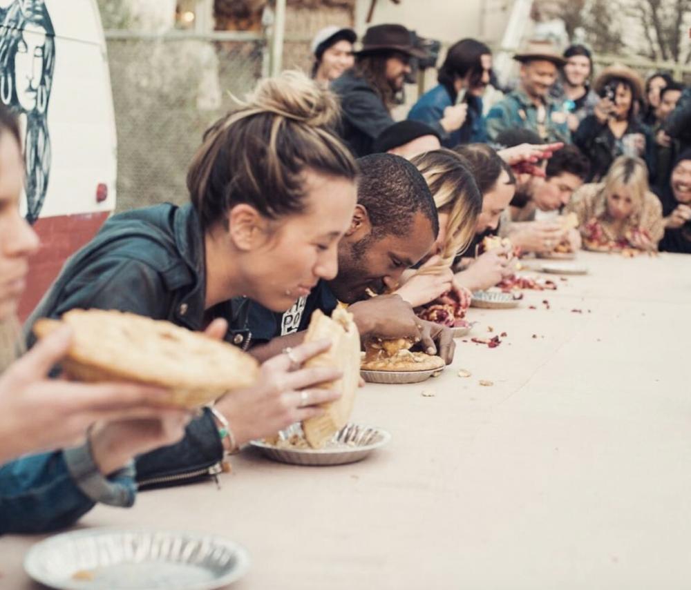 Pie eating contest. Photo credit: Jack Alice, @jackalice_