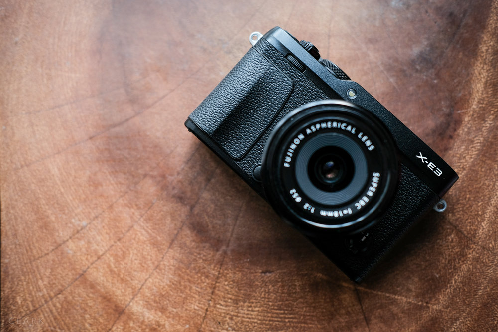 Small but perfectly formed (from the front), the X-E3 is a good looking camera
