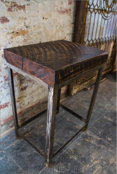 Poplar Slab End Table