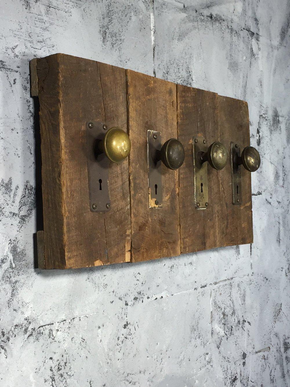 Antique Door Knob Coat Hanger
