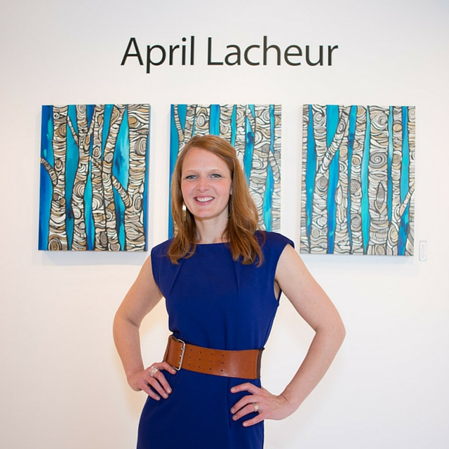 April Lacheur successful female artist talking at THRIVE talks in Vancouver
