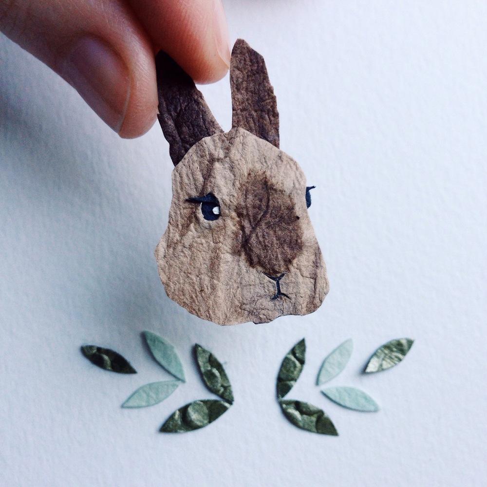 Tiny Paper Bunny Tara Galuska