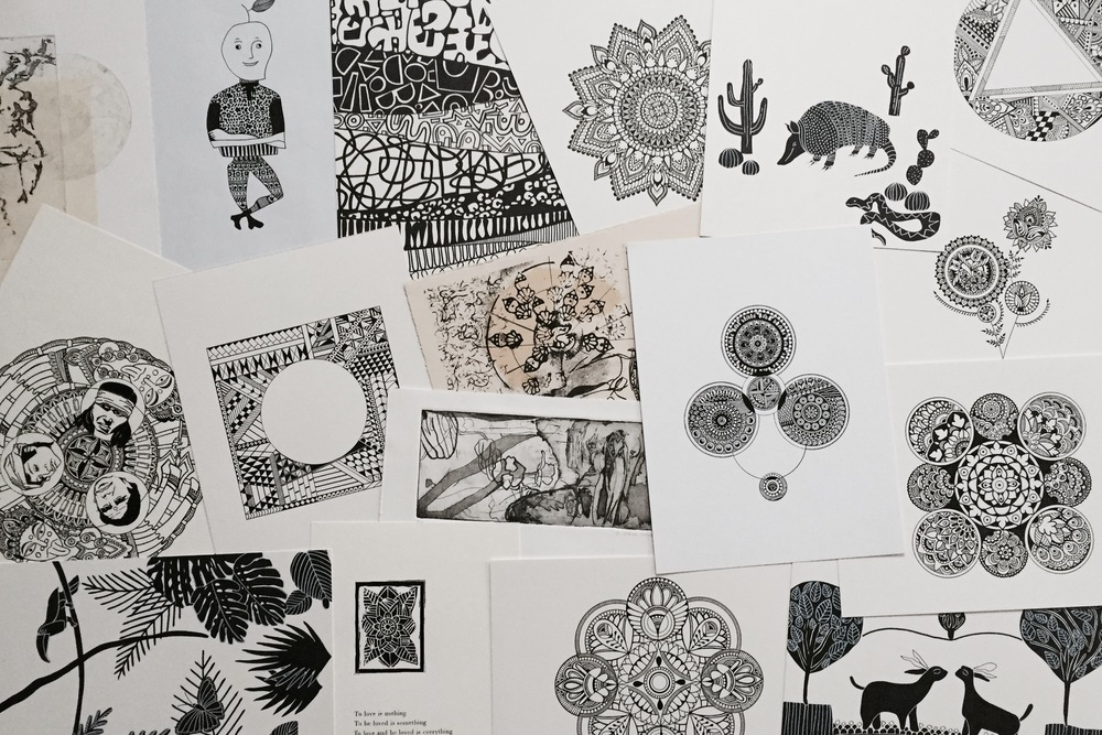 Black and White artwork Mandalas Sandeep Johal