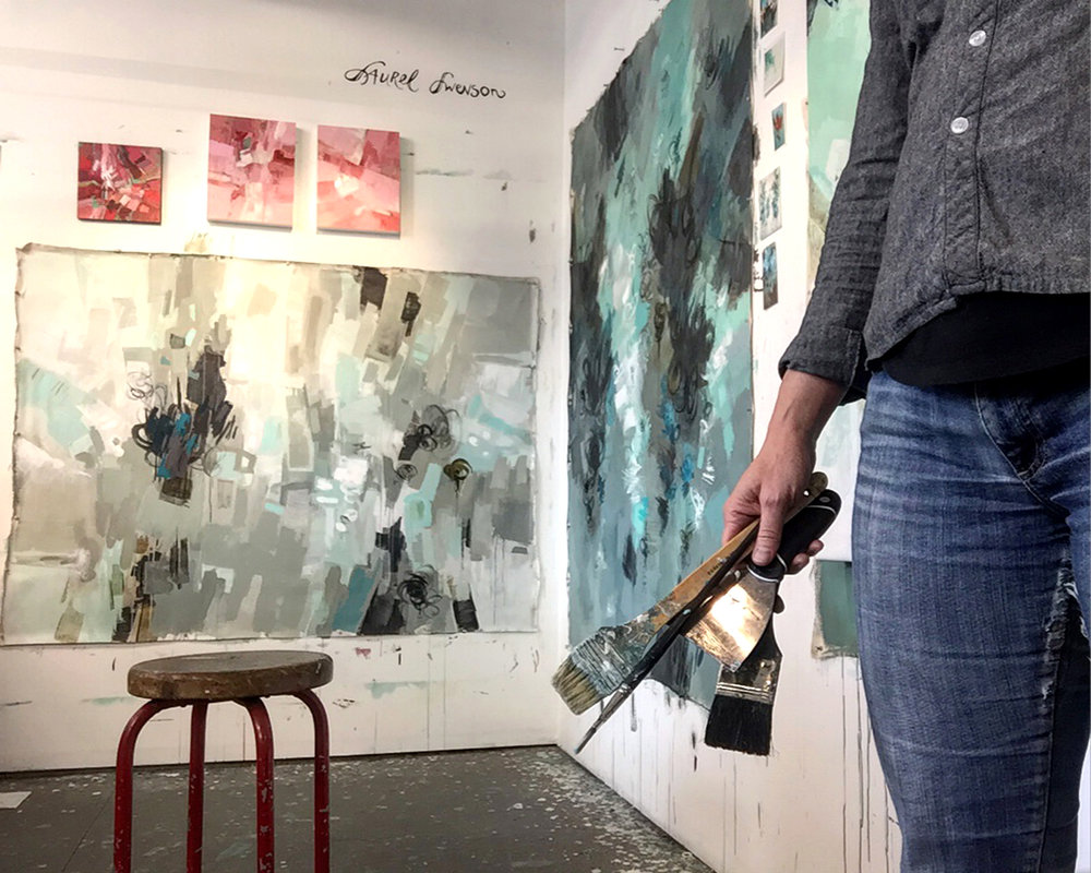 Painter Laurel Swenson in Artist Studio