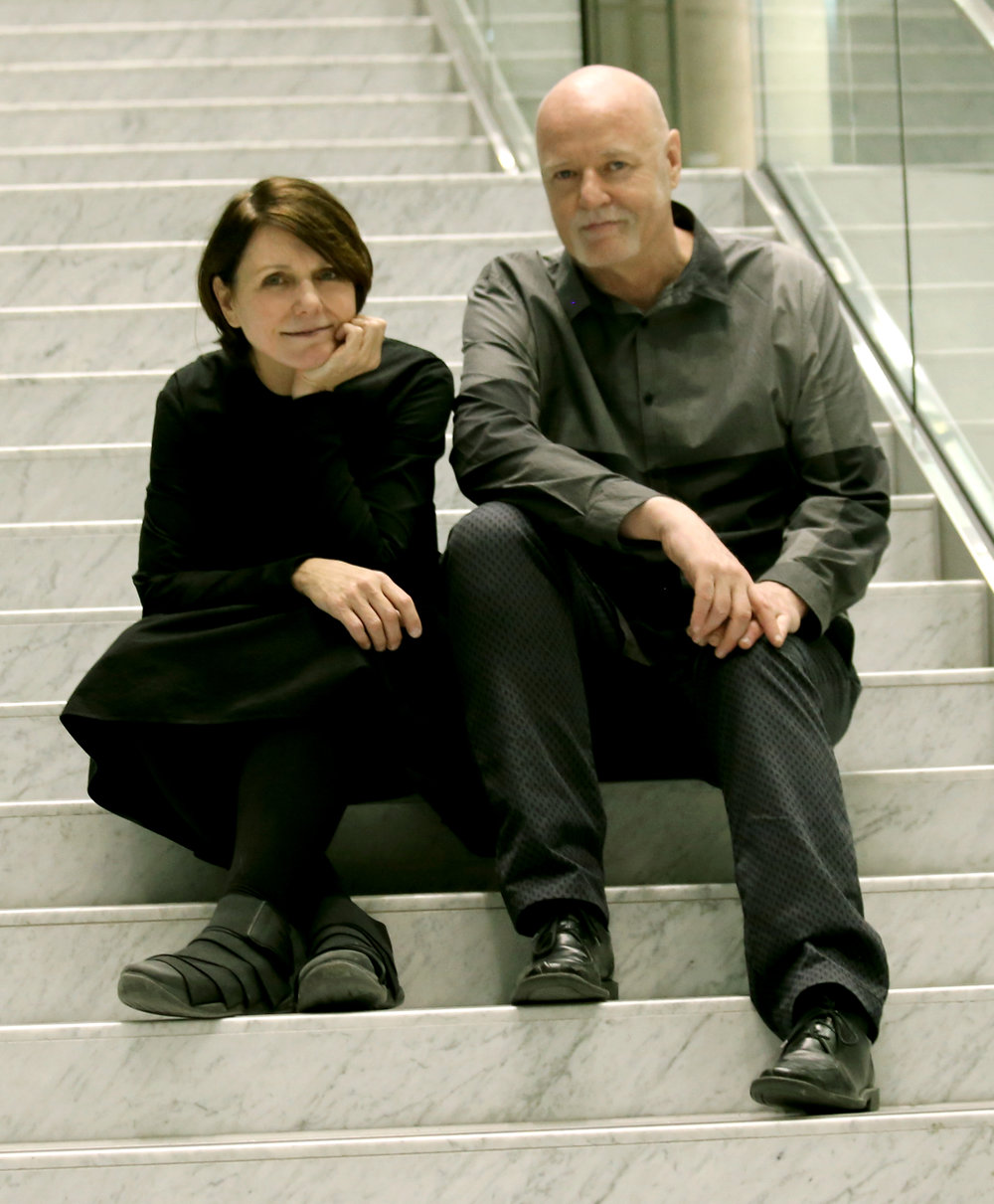 Sarah Joyce and Gordon Duggan, the dynamic duo that lead the New Media Gallery. Joyce and Duggan have been Directors/Curators at the New Media Gallery since it 2014. The gallery is a civic gallery in the City of New Westminster.