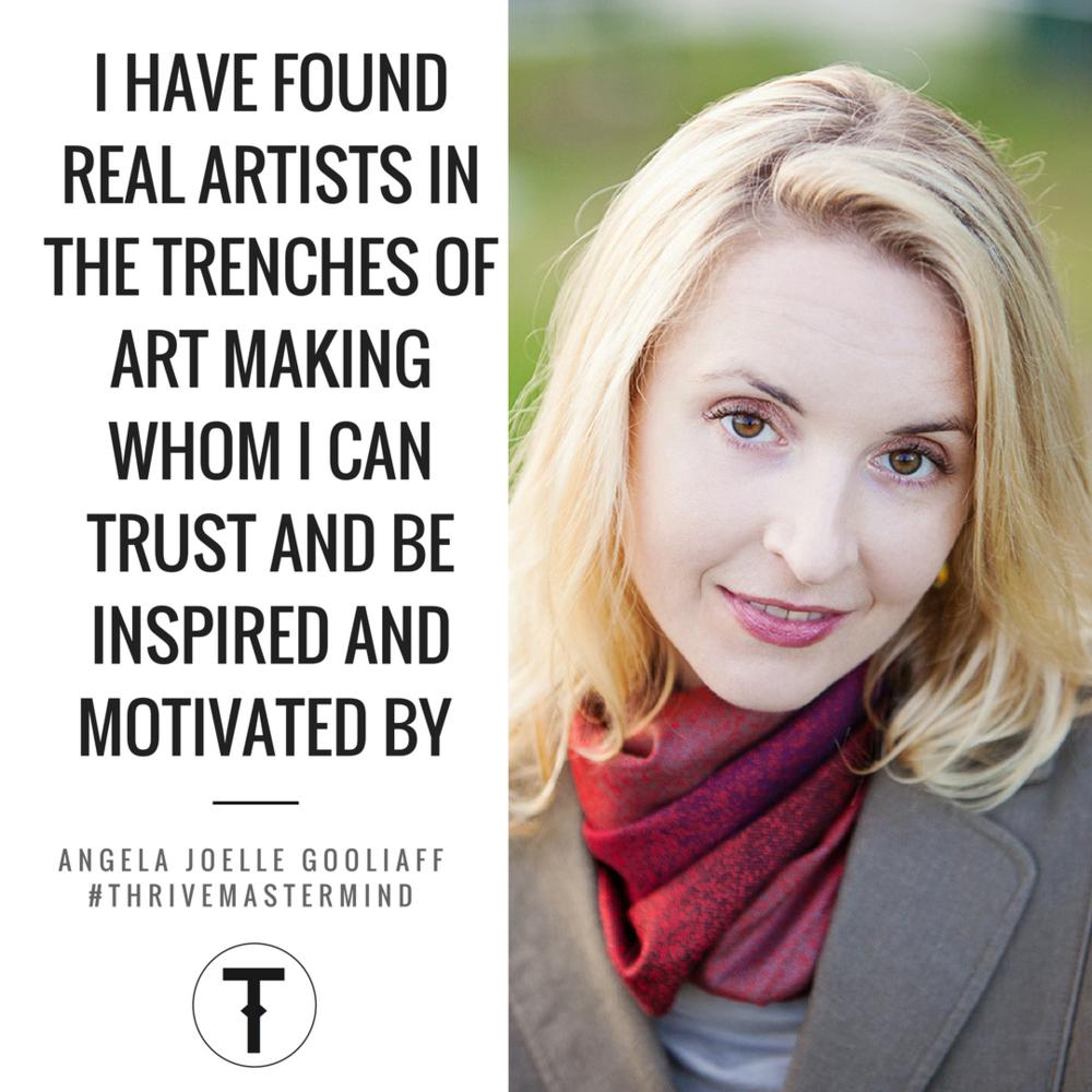 THRIVE Mastermind Vancouver member Angela Joelle Gooliaff