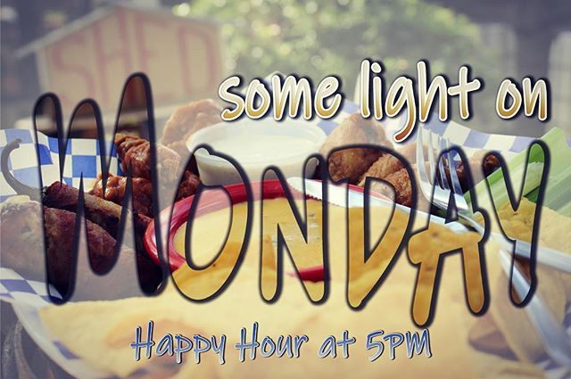 "🔴🔴🔴🔴🔘 4 out of 5 psychologists agree that Mondays were invented for extra encouragement! 😉  Here's to a great week!  Start your week right and ""Shed"" some light on Monday night with Happy Hour at Salado's favorite tavern - The Shed!  We're open at 5PM, so grab an ice cold domestic draft beer, Margarita, or Salado Swirl for just $3!  We'll see you tonight!"