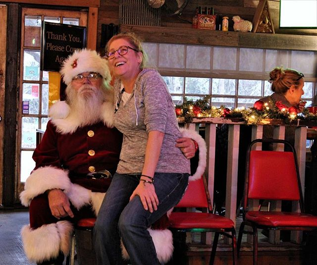 Look who decided to join us at The Shed! 🎅🎄 Even Santa Clause looks forward to Margarita Monday! 😉