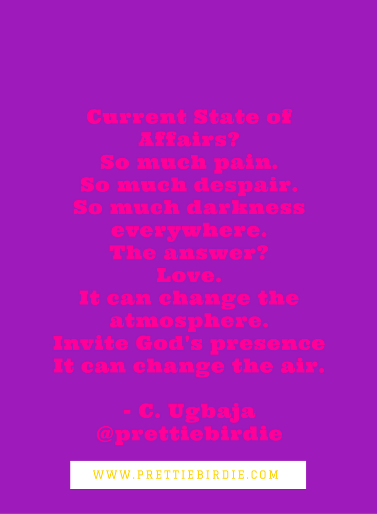 #90SECPOETRY - CURRENT STATE OF AFFAIRS