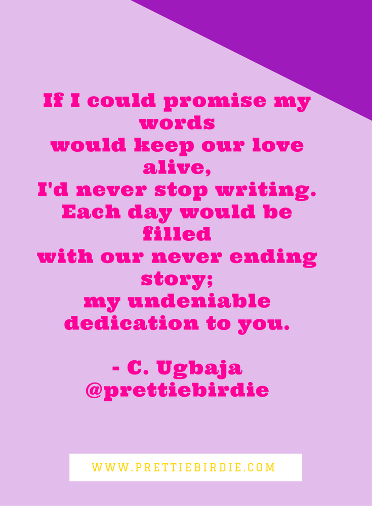 #90SECPOETRY - IF I COULD PROMISE