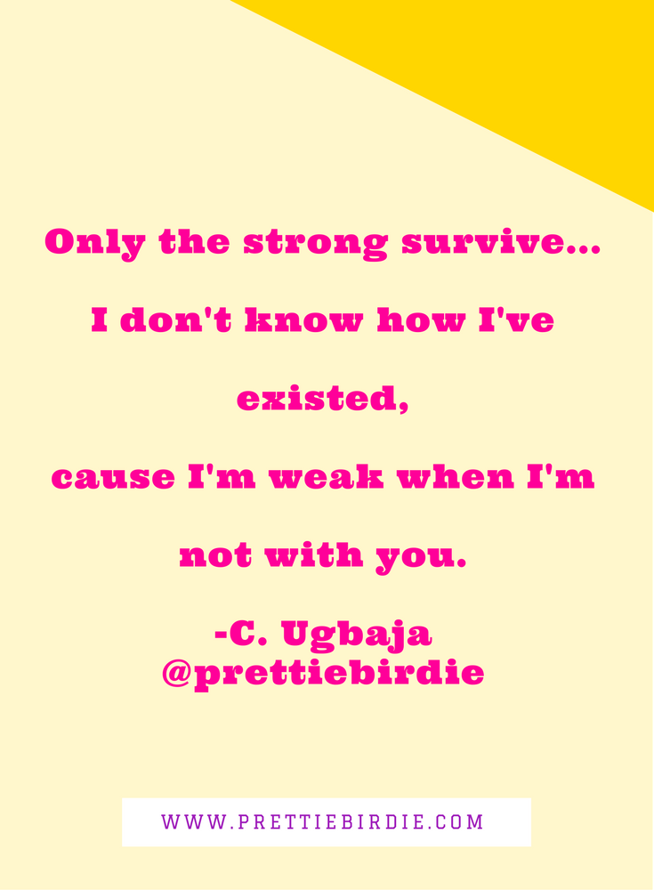 #90SECPOETRY - ONLY THE STRONG