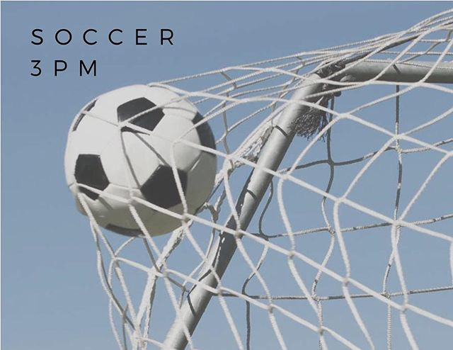 Soccer today! 3 pm! Mag fields! Bring your friends! Come and make some new ones! BE THERE.