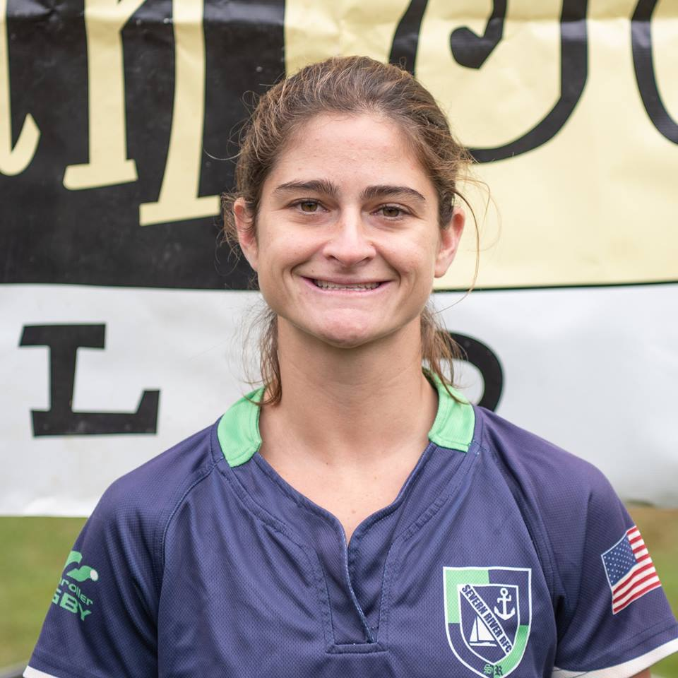 """Hannah """"Scrappy"""" Whiteley  Position: Flanker, Fullback, Wing  Current City: Towson, MD  Hometown: Baltimore, MD  College: Salisbury University"""