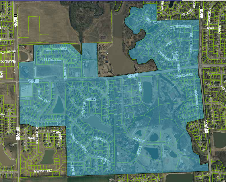 The 13th Street project has an impact area of 400 acres, almost fully-developed with low-density residential; there is little marginal growth potential
