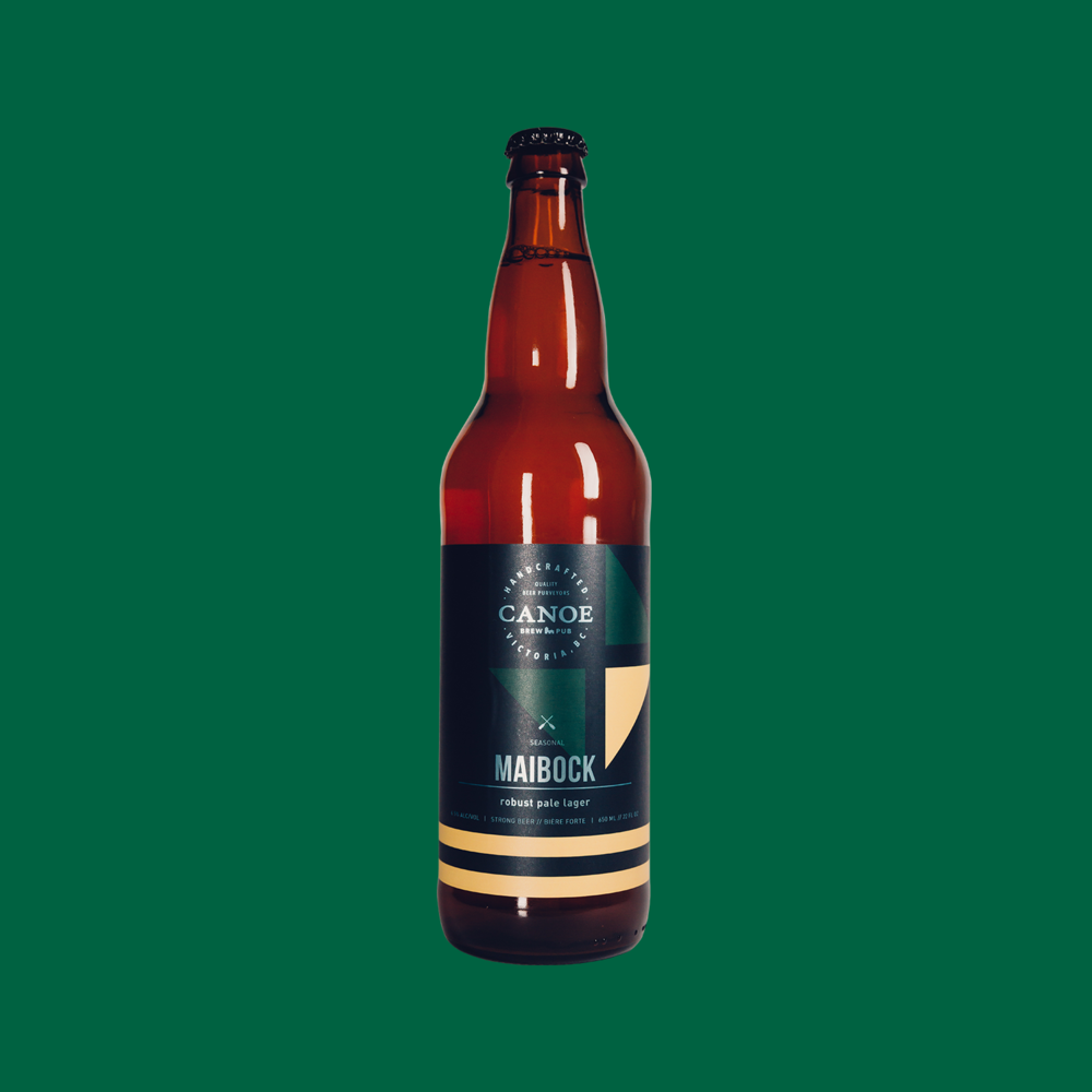 Maibock - A robust pale lager.A close relative of Helles, Maibock is a golden lager brewed to a higher strength. Full, flavourful, with subtle, spicy hop aroma and rich, satisfying body.ALC: 6.5%IBU:22 (low bitterness/hoppiness)Malt:Moderate