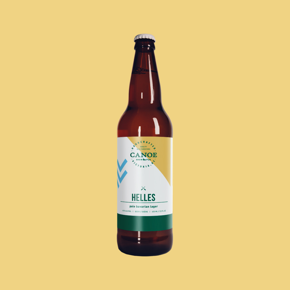 Helles - A pale bavarian-style lager.Light and smooth on the palate, with aromas of European malt and Bavarian yeast. Refreshing and exceptionally drinkable. Clean & crisp.ALC: 4.8%IBU: 12 (low bitterness/hoppiness)Malt: Moderate
