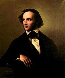 Portrait of Mendelssohn by Wilhelm Hensel, 1847