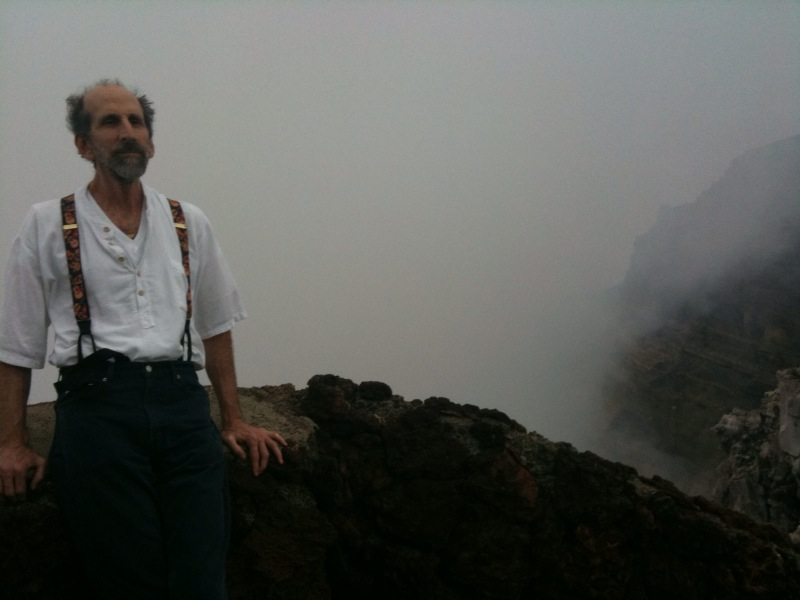 Steve at the crater mit smoke
