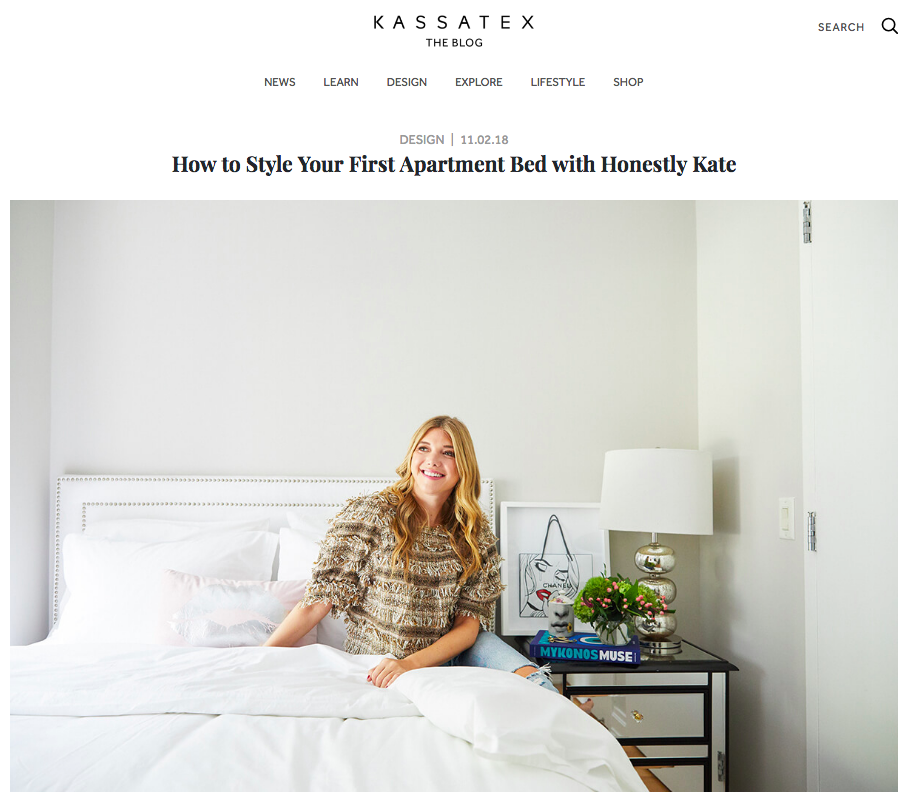 https://blog.kassatex.com/design/how-to-style-your-first-apartment-bed-with-honestly-kate/