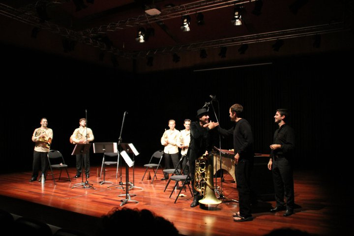 "Premiere of ""Without Thought, No Time"" in Espinho, Portugal, performed by Sérgio Carolino and Trompas Lusas"