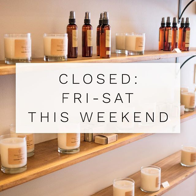 The shop will be closed today + tomorrow. Sorry for any inconveniences. Enjoy this beautiful weekend and we'll see you guys Tuesday 😊☀️
