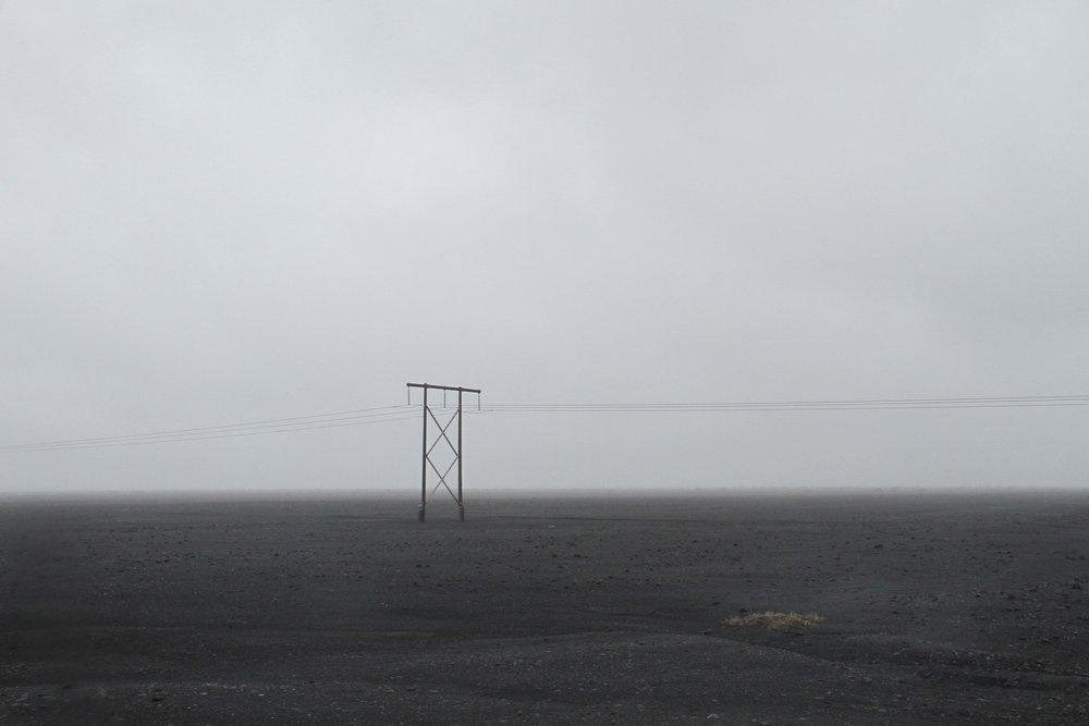 Iceland black sand desert