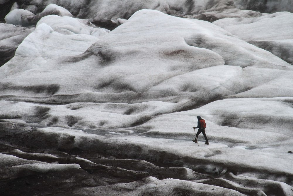glacial hiking
