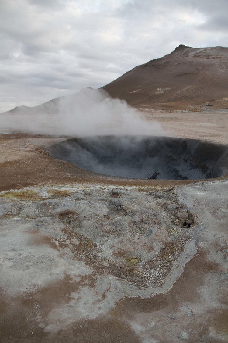 Iceland steam vents