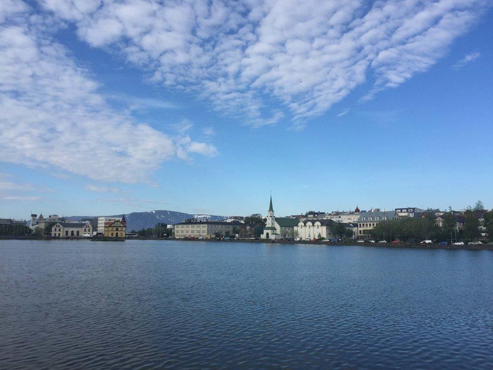 park not far from downtown Reykjavik