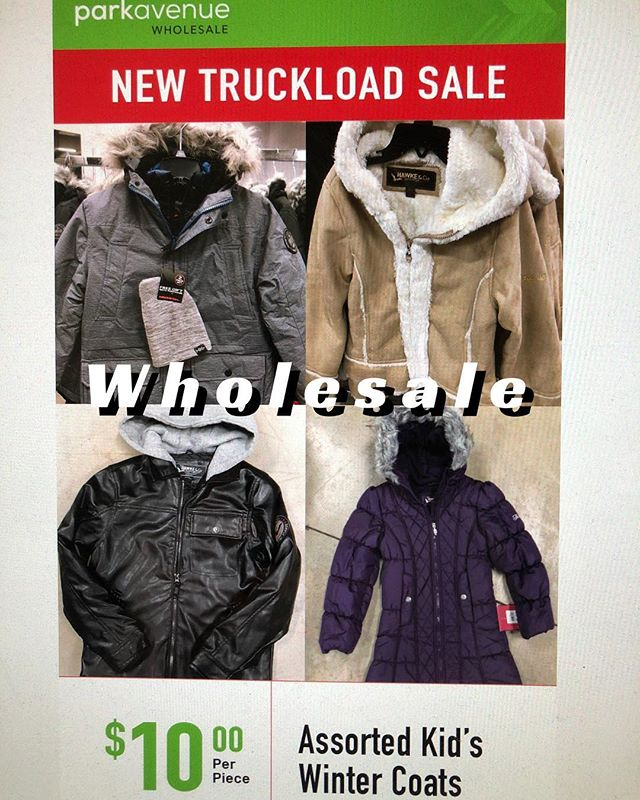 New #truckloadsale Opportunity for #Resellers & Charities  1000's of kids winter coats are in. Brand: Hawke & Co. New with tags. They're beautiful!!! Wholesale minimum is $300.  Shipping out of Buffalo NY. 📦📦📦