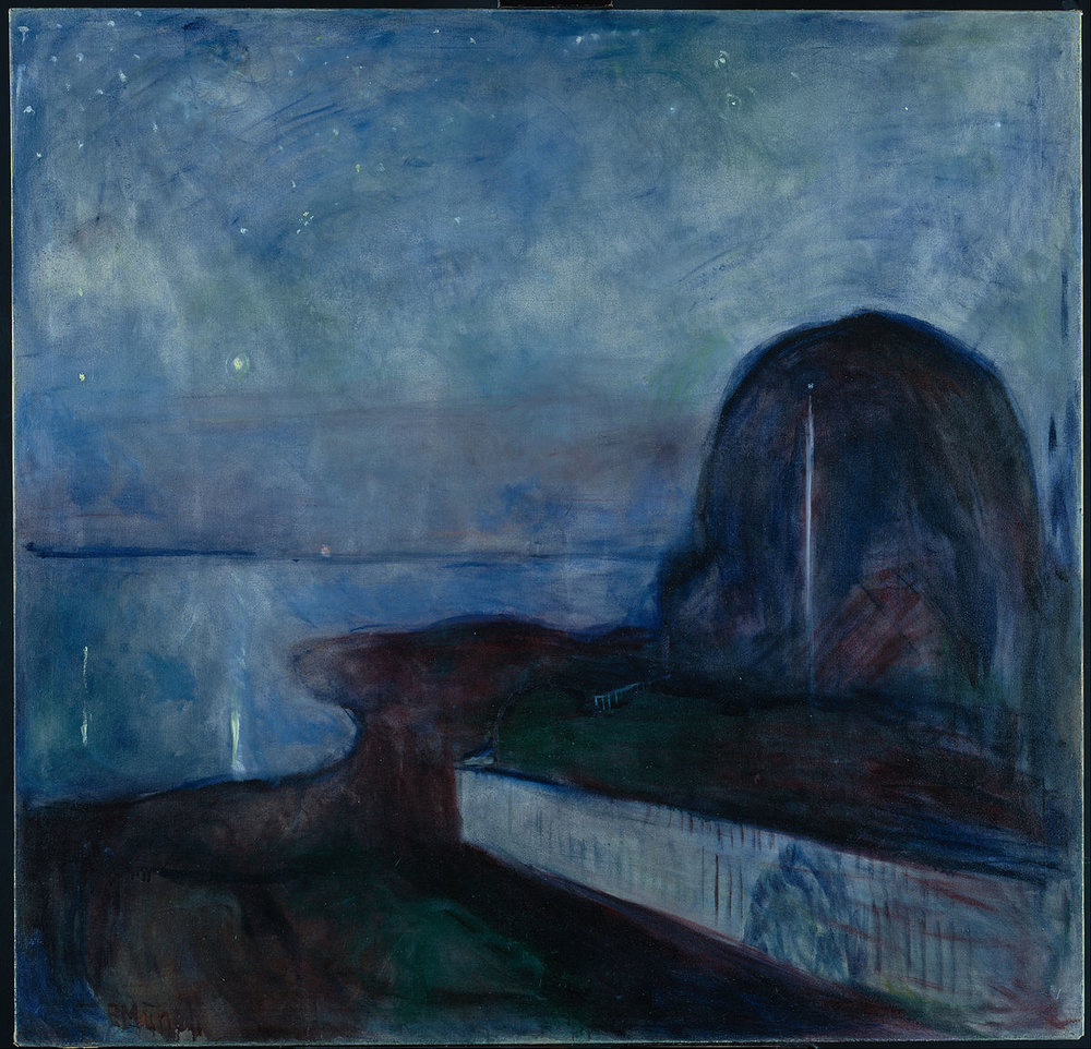 Asgardstrand Stjernenatt 'Starry_Night'_by_Edvard_Munch,_1893,_Getty_Center.JPG