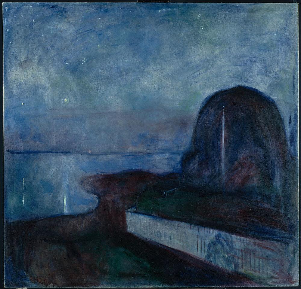 Asgardstrand Stjernenatt 'Starry_Night'_by_Edvard_Munch,_1893,_Getty_Center.JPG