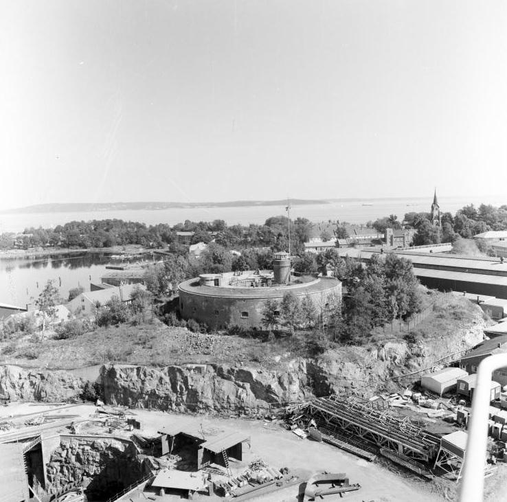 Citadellet fotografert en gang i løpet av 1950-årene. Fotograf: ukjent