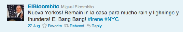 "Mayor Bloomberg's ""Spanish-speaking"" Twitter Twin @ElBloombito"