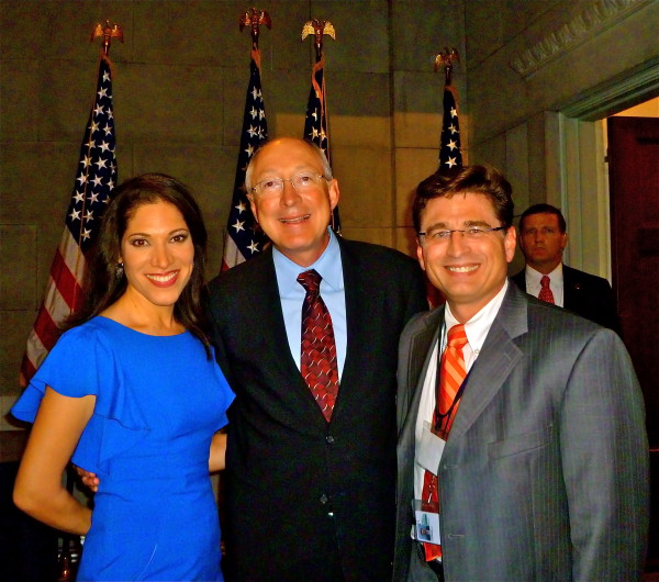 U.S. Secretary of the Interior Ken Salazar and Viviana Hurtado